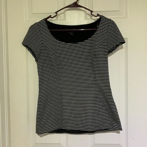 WHBM short sleeve stripe top